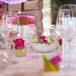 décoration table mariage fushia et anis