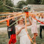jeu des rubans - bouquet de mariée