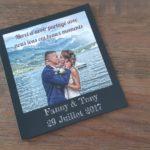 carte de remerciements mariage à annecy