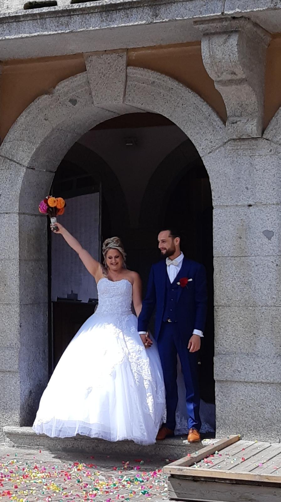 sortie de mairie mariage Megève